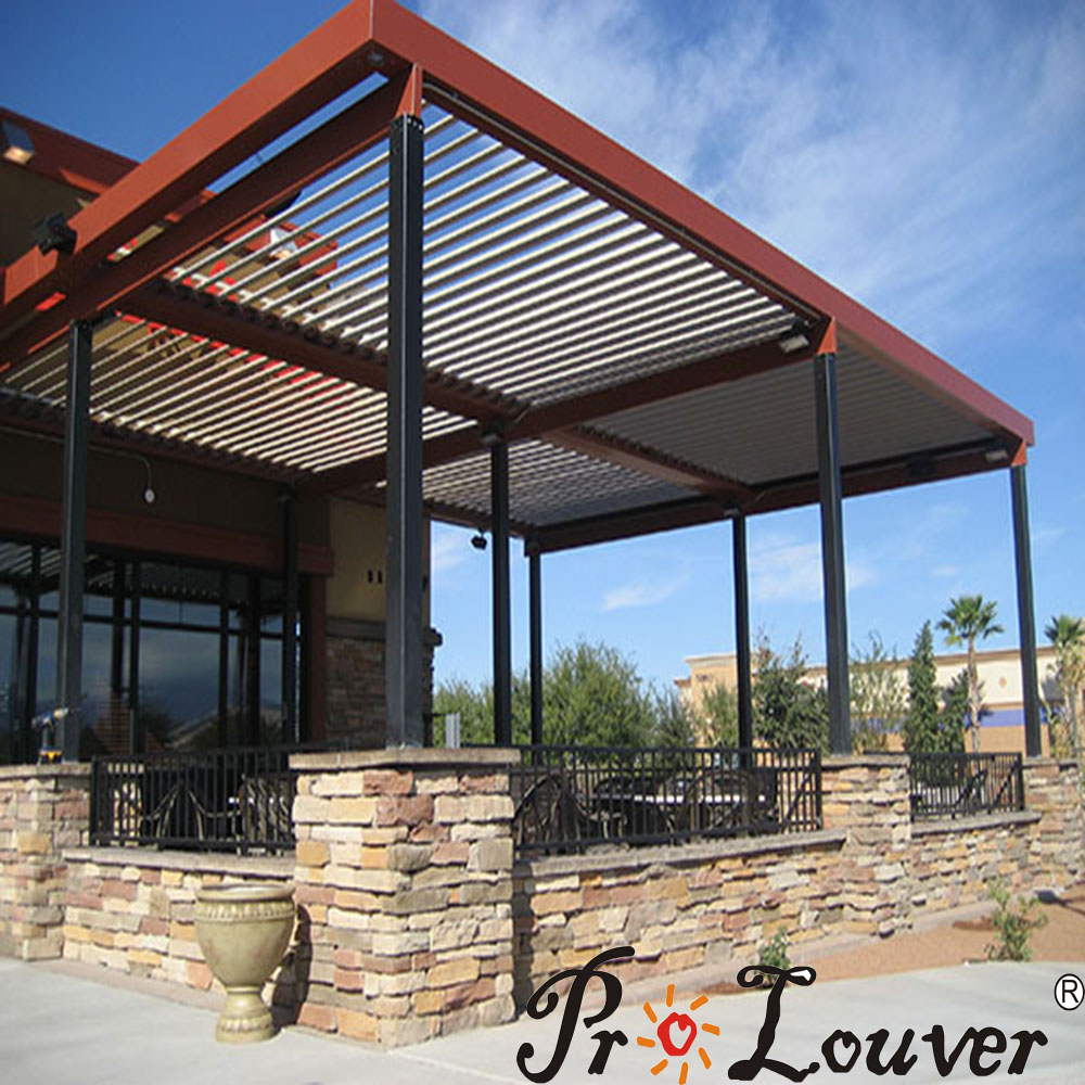 Pergola motorized louver,Opening roof,waterproof pergola covers