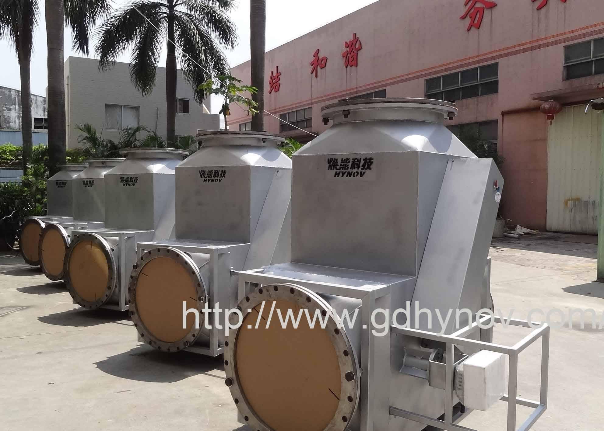 High temperature flue gas tee valve