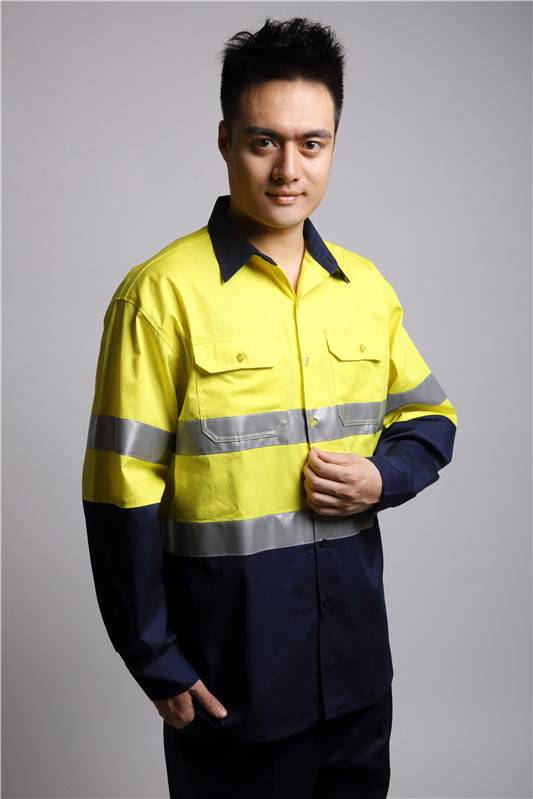 100% cotton hi vis work shirt
