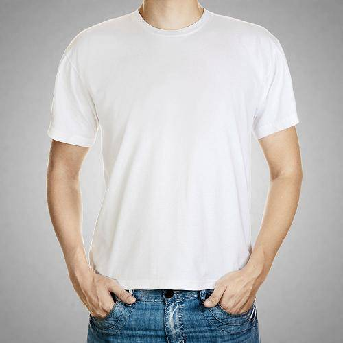 Men's short sleeve blank t shirt