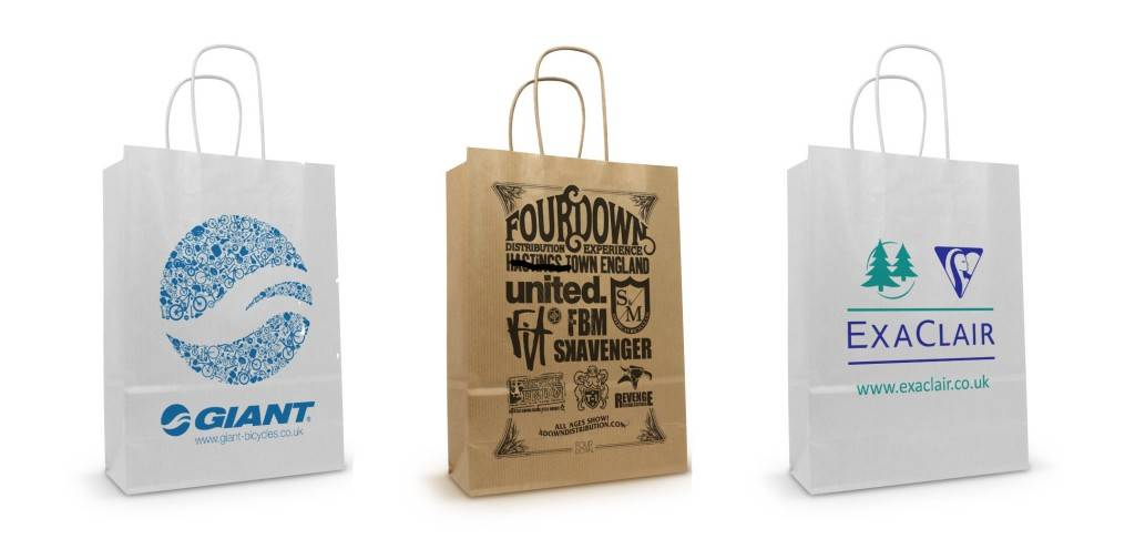Recycle Twisted Handle Brown Kraft Paper Bags