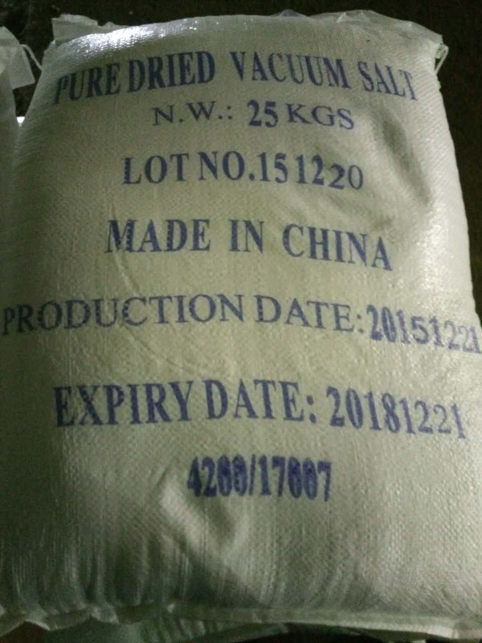 Chinese PDV Salt, vacuum salt, refined salt, edible salt,Industrial salt