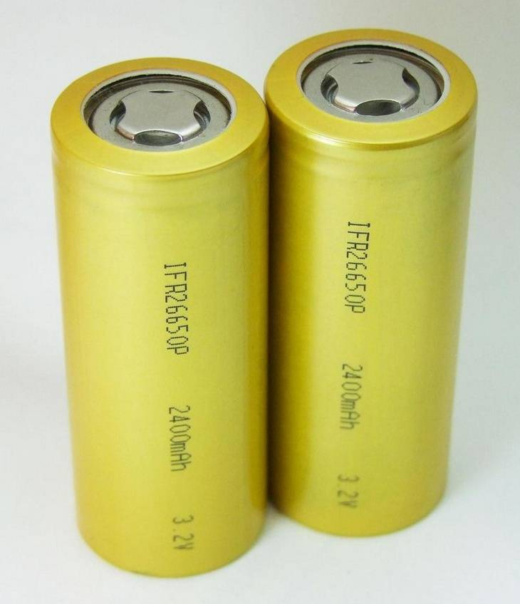 Cylindrical Rechargeable LiFePo4 battery 26650 3.2V for solar light e-bike flashlight electric equip
