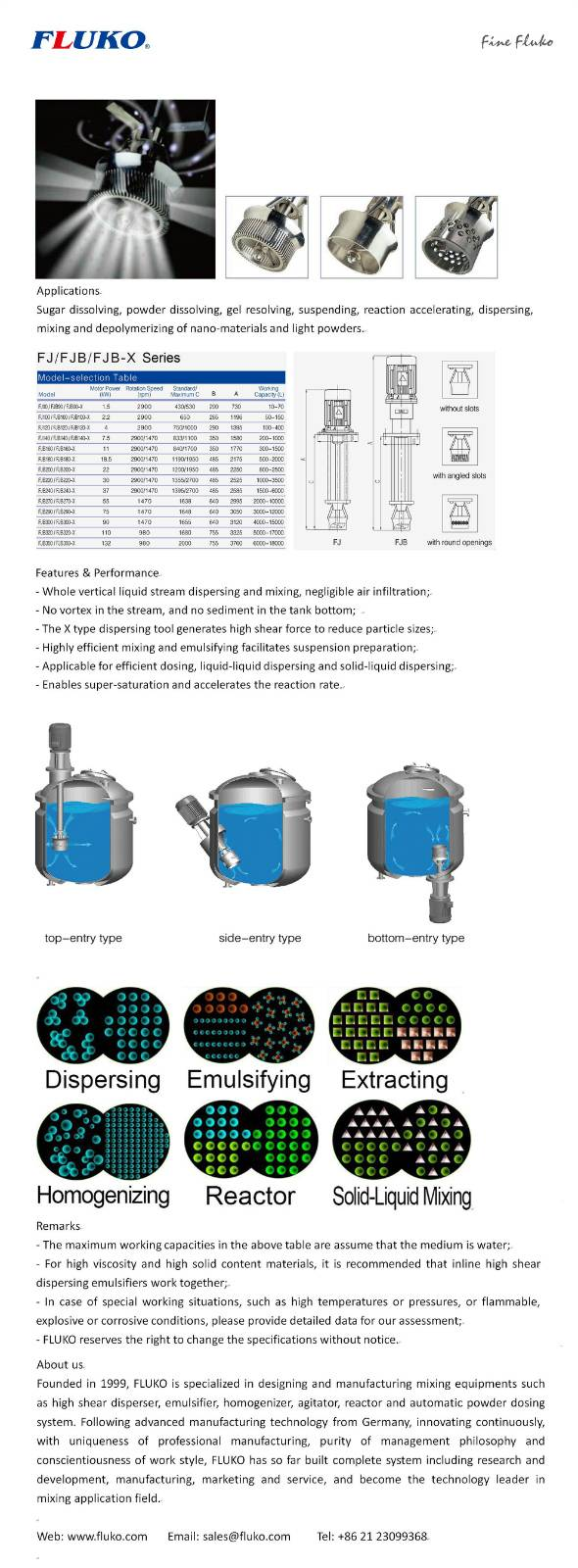 FLUKO Batch Jetmixer,Dispersing Mixer