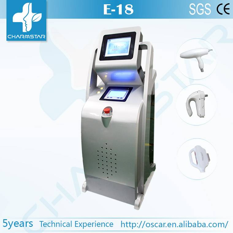 E light (ipl & rf)+RF+ND Yag RF ipl laser hair removal machine