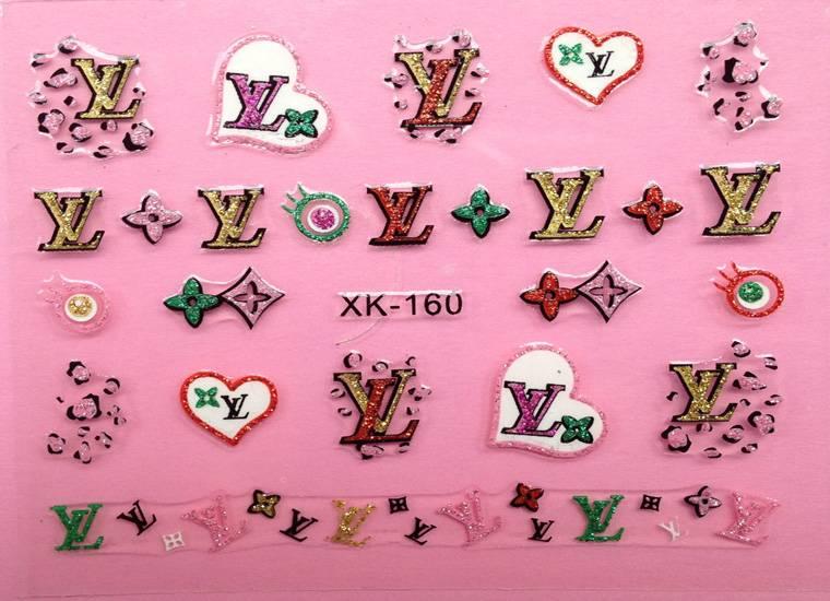 Decorative lovely glitterring nail sticker non toxic for women