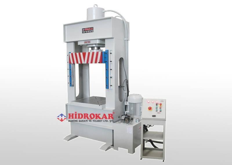 hydraulic c frame press 250 tons