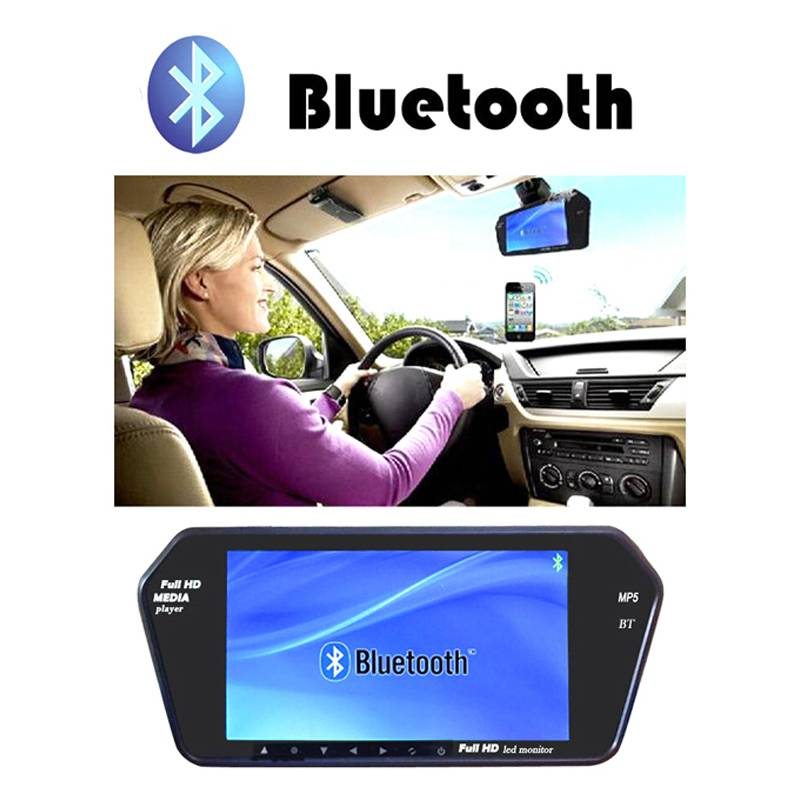 7Inch LCD MP5 Car Rear Mirror Monitor 800*480 HD Parking Rearview Monitor Screen for Rear View Rever
