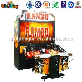 """Qingfeng coin operated 52""""LCD RAMBO shooting arcade game machine video games machine"""
