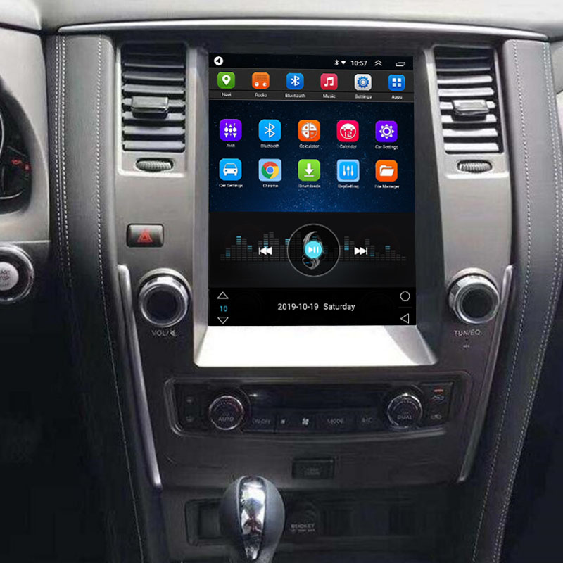 Vertical Screen 12.1 Inch Android Car Multimedia Navigation For Nissan Patrol 2011-2016