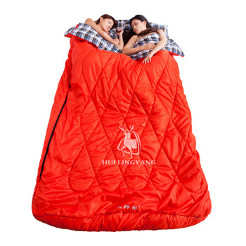 Thick double flannel winter sleeping bag H84