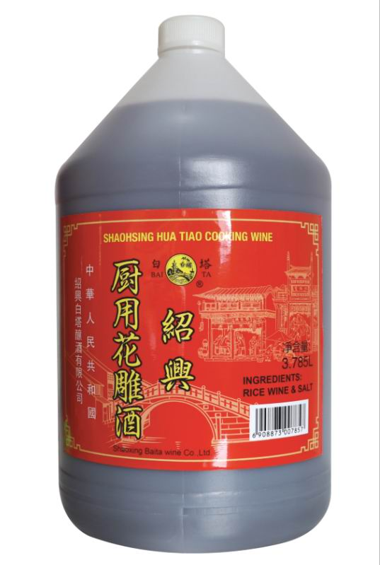 Baita shaoxing huadiao wine for cooking use 3.785L