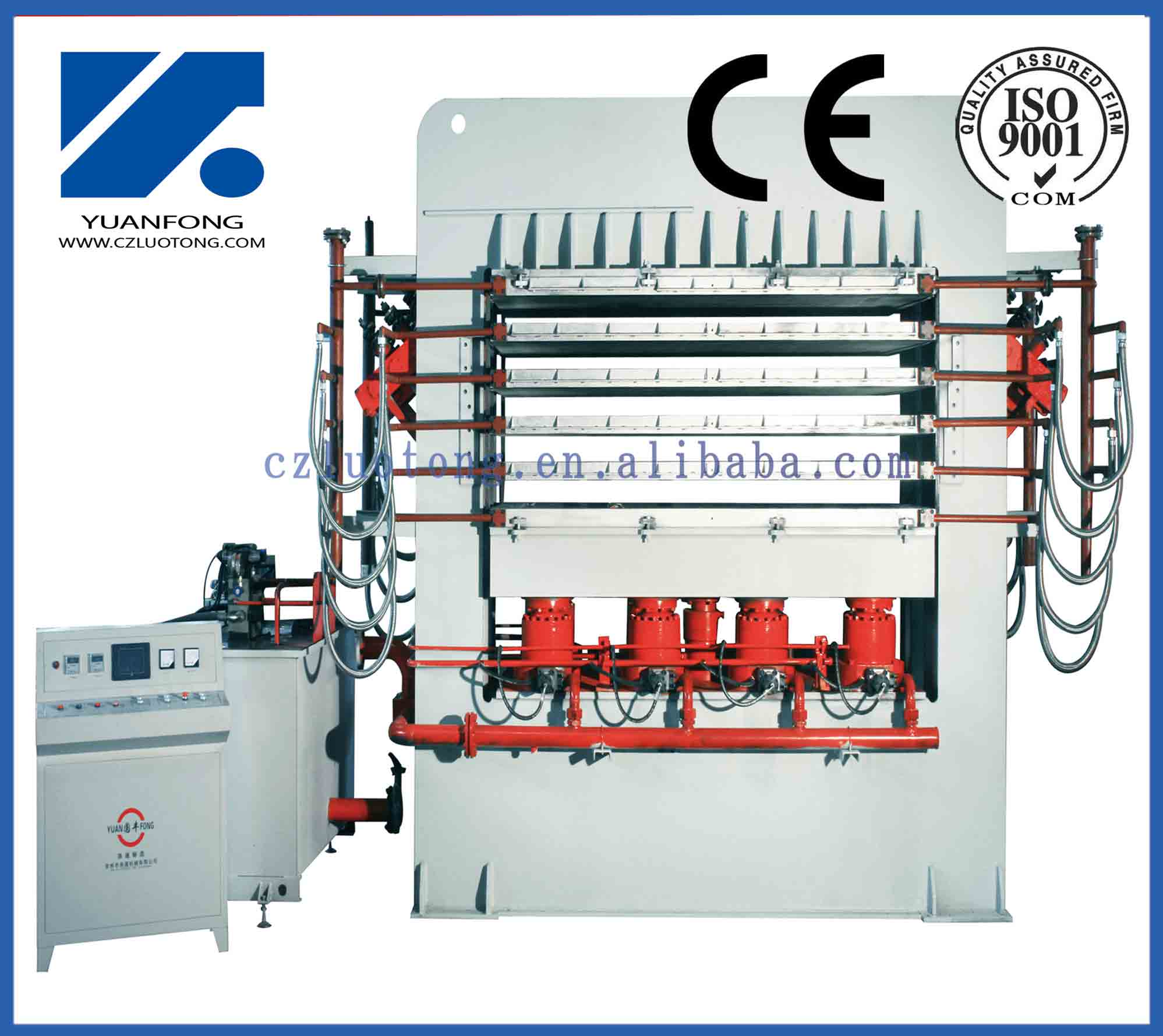 High frequency plywood mulitlayer short cycle melamine press