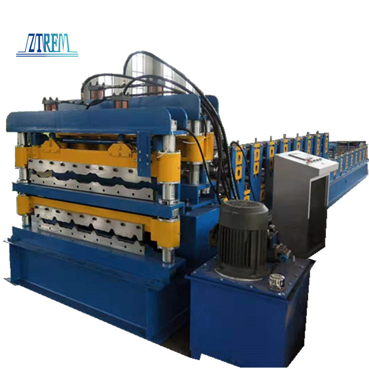 Roof Use Double Layer Corrugated Profile Steel Roofing Sheet Roll Forming Machine Roof Tile Making