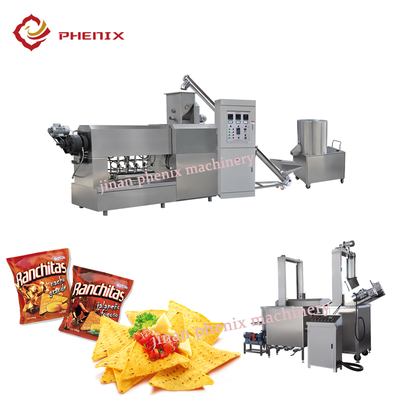 automatic corn doritos chips extrusion process machine