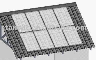 Pitched roof solar bracket mounting system