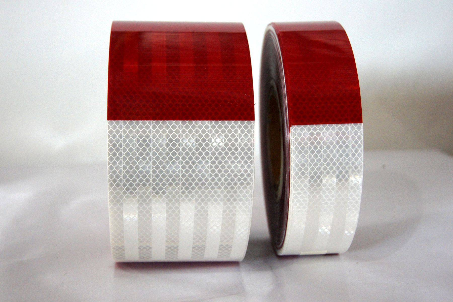 2016 hot sell micro-prismatic red and wite reflective tape for vehicle