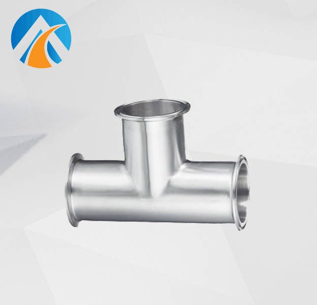 Sanitary stainless steel clamped tee