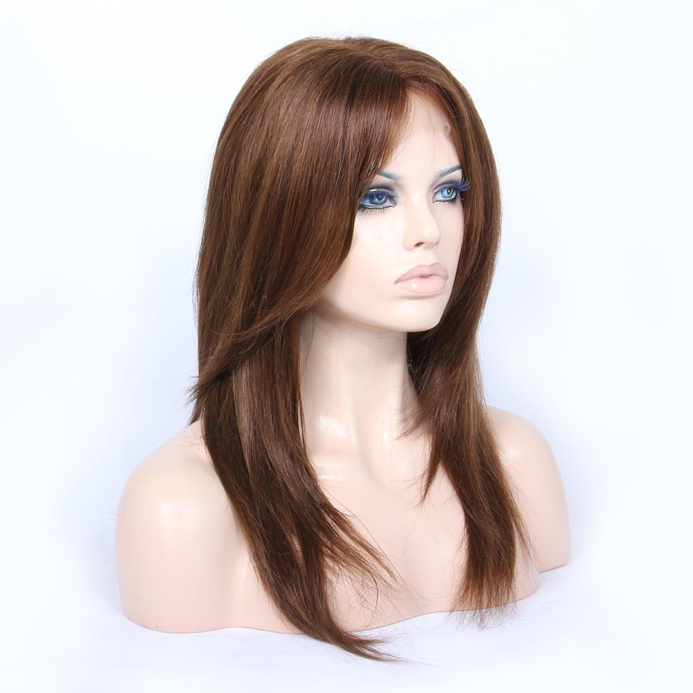 Grade 7a virgin hair Brazilian human hair full lace wig, wholesale Brazilian hair wig