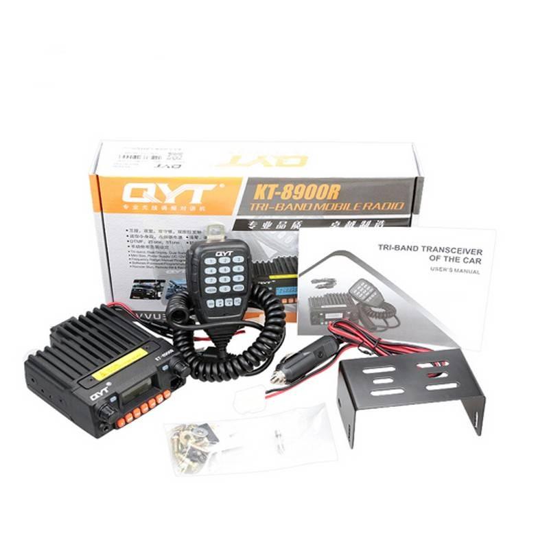 Mini Mobile Radio Transceiver QYT KT-8900R Tri-band 136-174/220-260/400-480MHz Upgraded KT-8900 Car