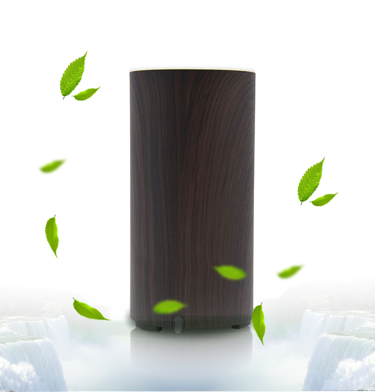 Oil Diffuser 45ml Bottle Wood Brown Mini Natural USB Air For Homes with Led Lights