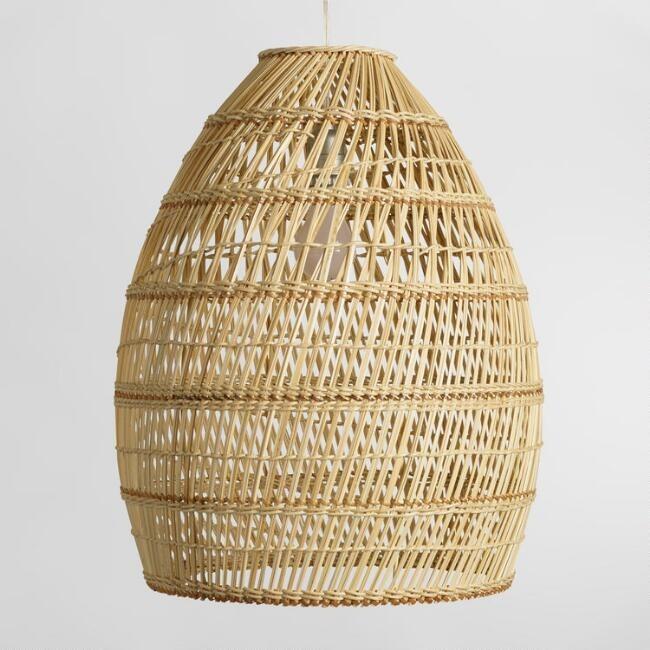 Adorable Vietnam Bamboo Rattan Lighting Fixtures Chandeliers Decor Lamp