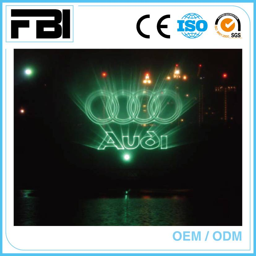 colorful laser show, water screen movie