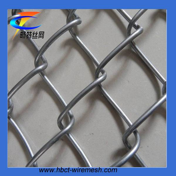 Hot dip galvanized wire mesh chain link fence