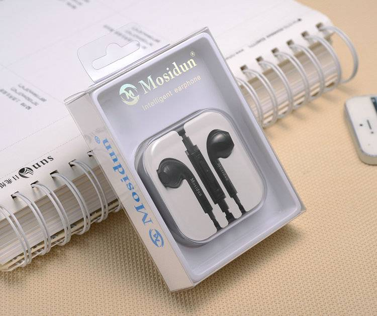 Whosale black Intelligent Earphone with microphones for Cell-phone