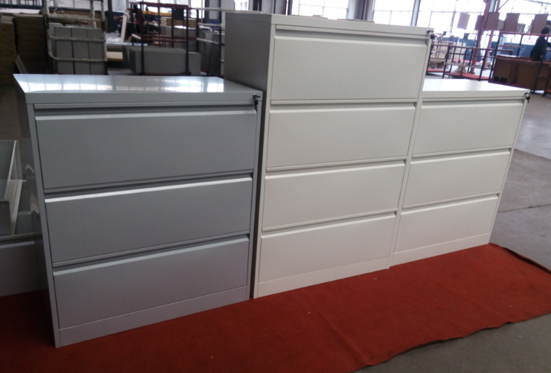 Metal lateral drawer filing cabinet