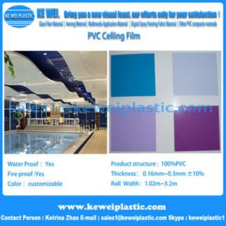 pvc stretched roofing membrane