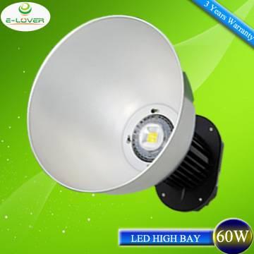high lumen 60w industrial led highbay lighting 3 years warranty
