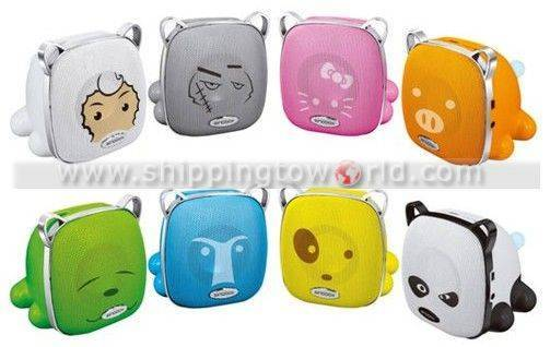 2011 Lovely Cartoon Design Wireless Mini Speakers With Indicate Light