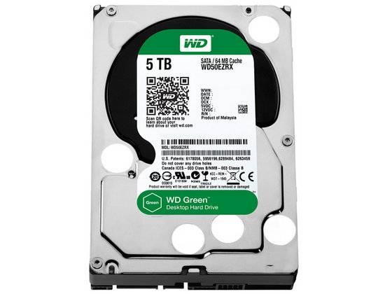 "Western Digital WD50EZRX WD Green 5TB Internal HDD 3.5"" Desktop Hard Drive Disk"