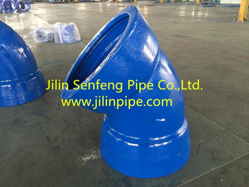 Double Socket Bends ductile iron pipe fittings ISO2531 BSEN545 BSEN598