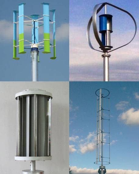 Vertical Axis Wind Generator (VAWT) from 50W to 50KW