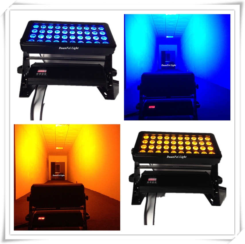 stage led Stage wash light 40x18w 6in1 wall washer rgbwa uv led city color