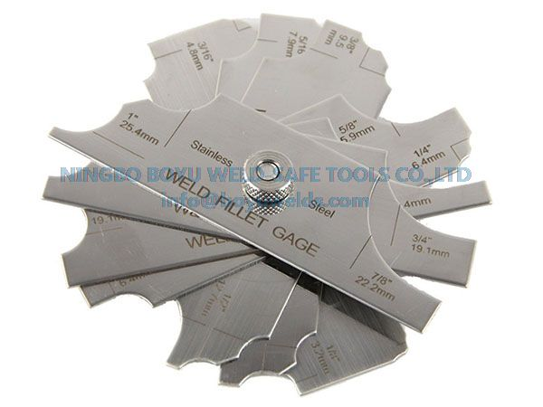 7 Piece Fillet Weld Set Gauge