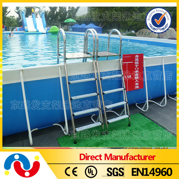 Outdoor Giant Steel Frame Swimming Pool Stents Pool park Above Ground Stand Water Pool For Sale