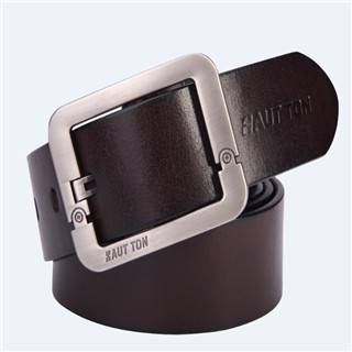 Hautton Brand New Design Black Man Leather Belts Wholesale ZK015