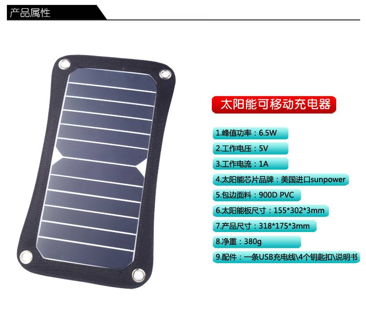 the most highest efficiency panel in the world 6.5W Sunpower solar panel