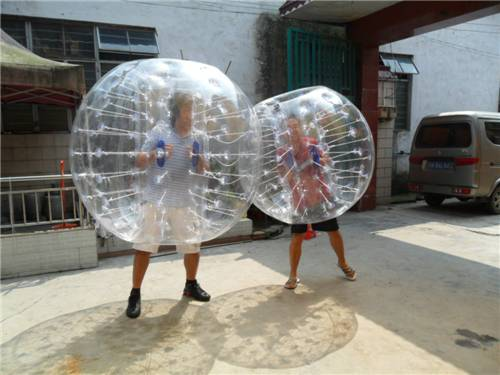 Human inflatable bumper bubble ball / hamster ball for rental business , race sport games