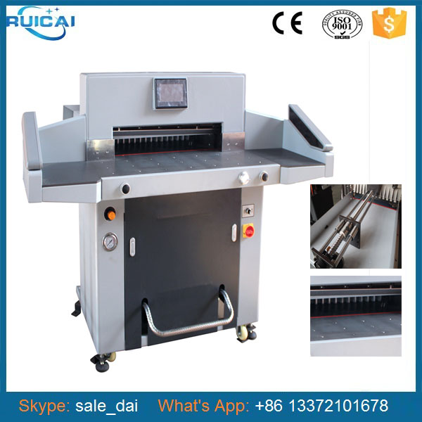 Chinese Heavy Duty Paper Cutting Machine with Air Rolling Ball