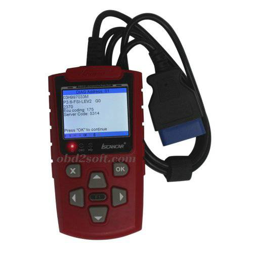 2014 IScancar OBDII EOBD Cars Trouble Codes Scanner red color