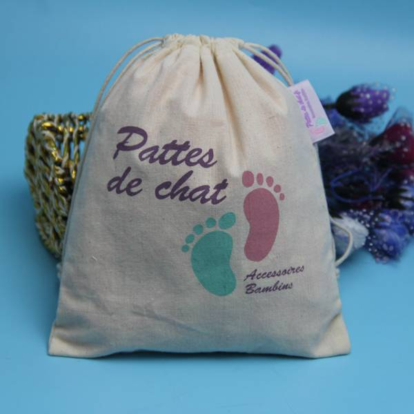 wholesale drawstring cotton bag for cloth packing