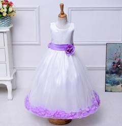 2016 cheap price wholesale summer flower girls party dresses