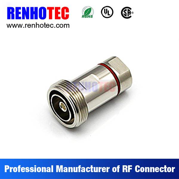 ROHS UL Straight 7/16 Din Female Crimp Cable RF Electrical 7/16 Connectors
