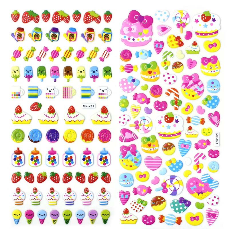 Candy Fruits 3D Puffy Stickers