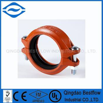 ul fm approved ductile iron grooved pipe fitting