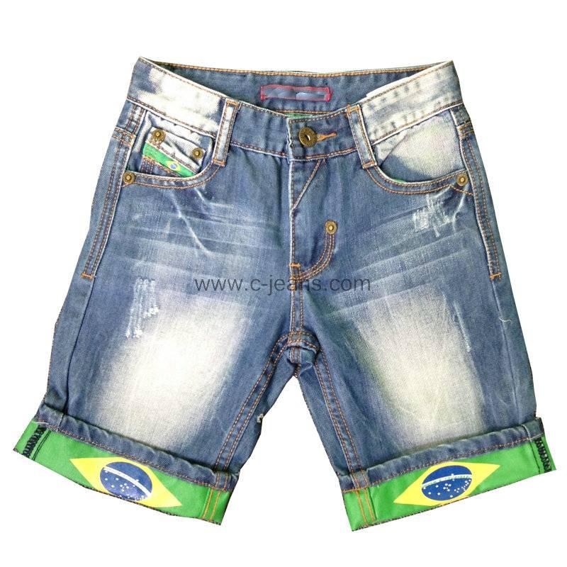 Knee-Length 5-Pocket High Quality Fashion Men Jeans